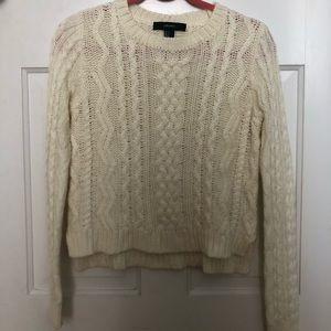 Cute Cropped Cream Sweater
